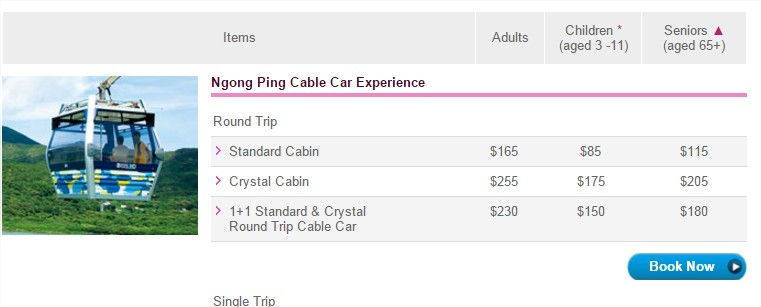 Ngong Ping 360 Pricing and Packages Hong Kong Ngong Ping 360 Official Website - Google Chrome