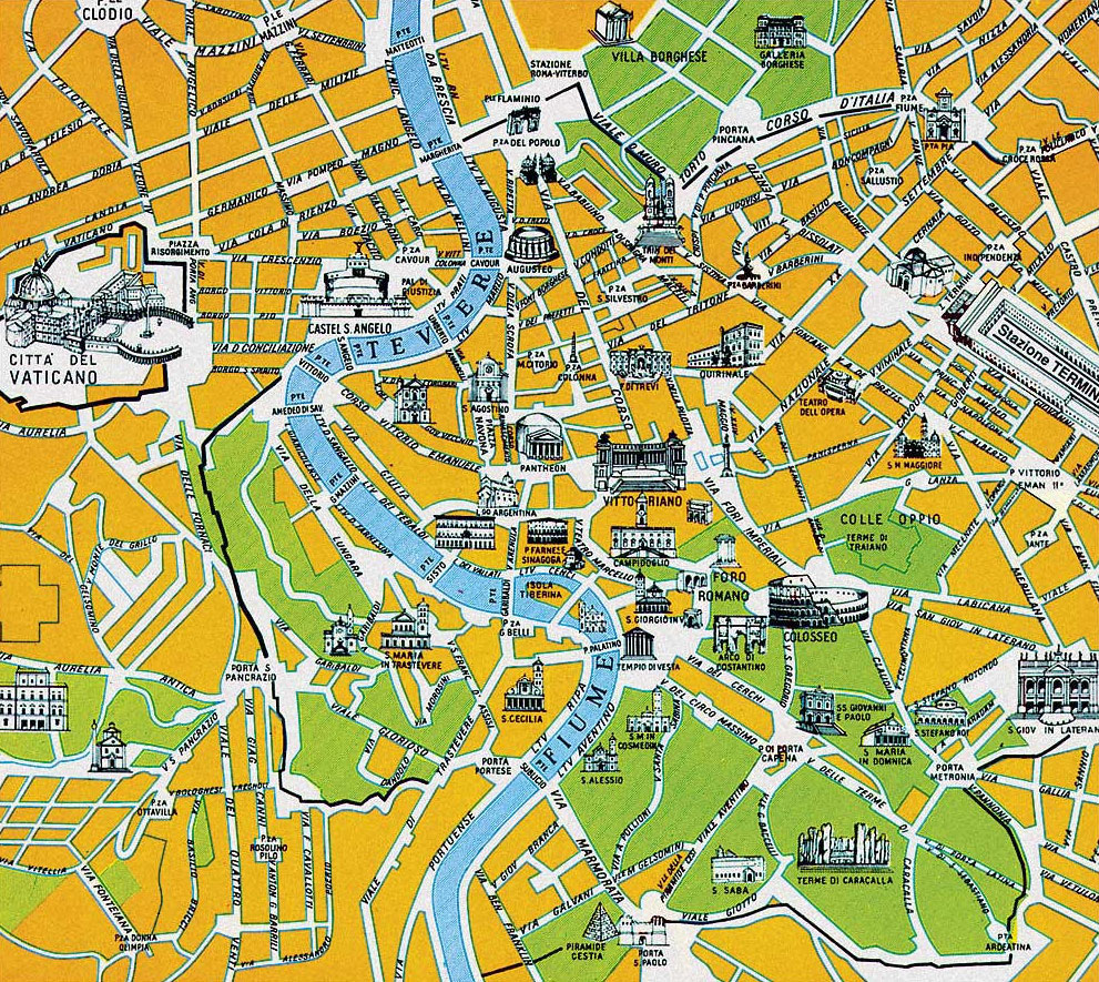 Rome-City-Tourist-Map